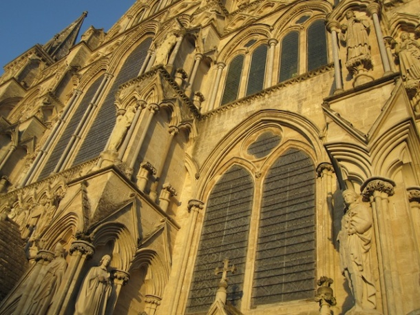 Salistbury Cathedral - Up close