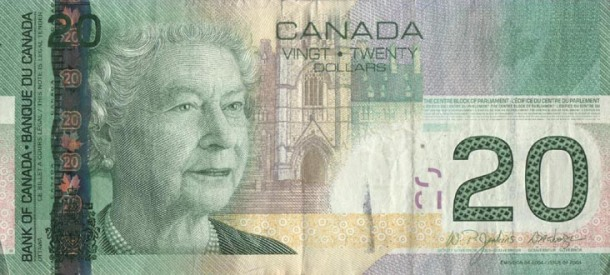 Canadian 20 Dollar Bill