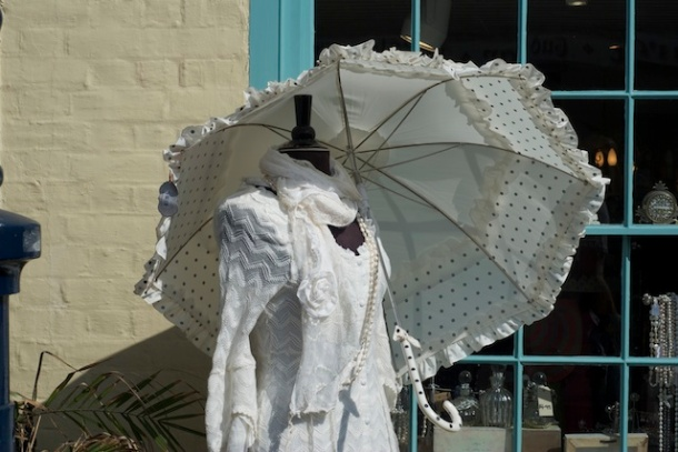 Dress and parasol - Whitstable town