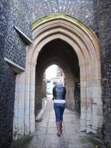 Through the arch - Norwich