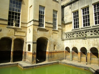 Inside the Roman Bath - Bath England