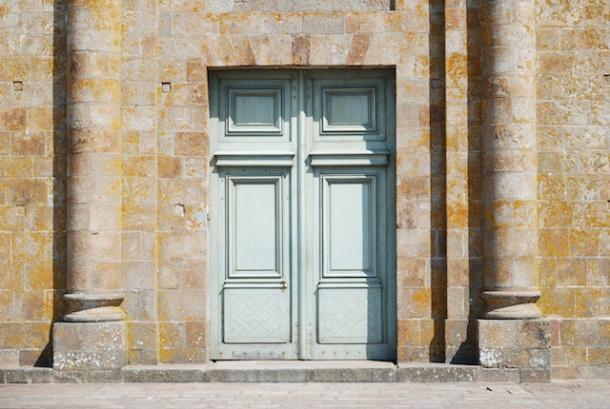 The Abbey - Tourquise Door - Mont St Michel - Normandy, France