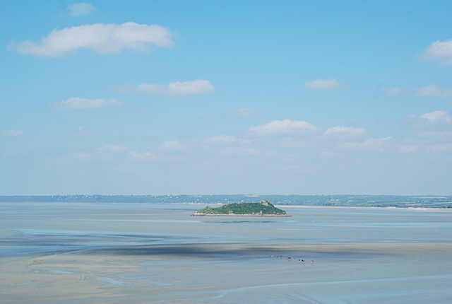 View from the top - Mont St Michel - Normandy, France
