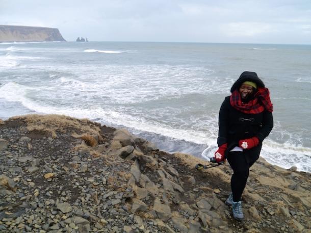 Melissa in Iceland - Dyrhólaey, Iceland