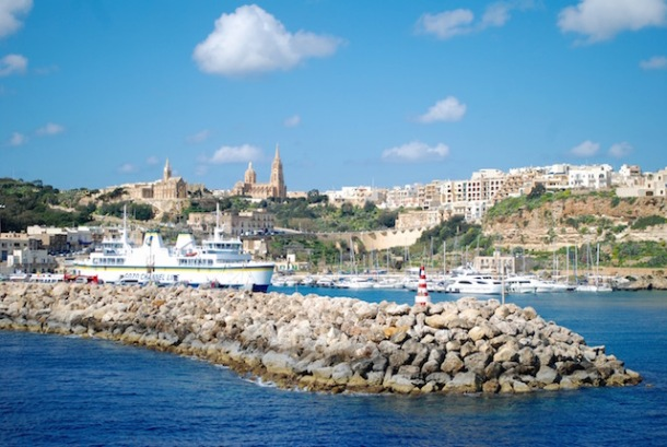 Arriving at Gozo