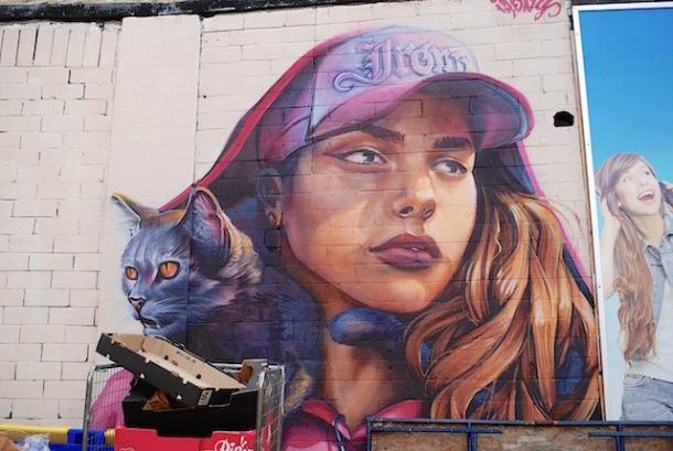 Pink Lady - Street Art