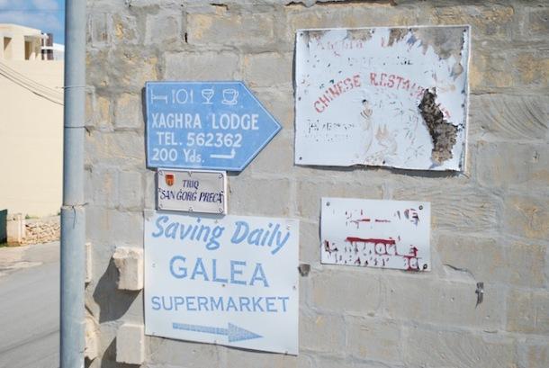 Signs Gozo