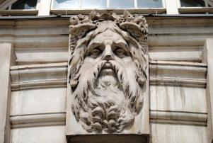 Epic Beard Gargoyle - Close Up - Somerset House