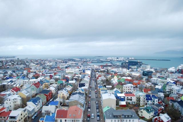The View from Hallgrímskirkja - Rekjavik Iceland